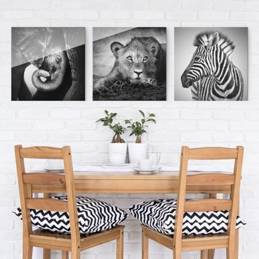 Product picture Print on Glass 3pcs. Set - Baby Animals...
