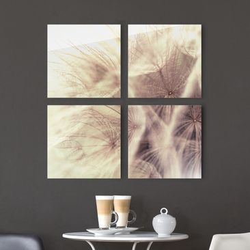 Product picture Glass Print Set - Detailed dandelions...