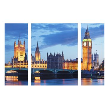 Product picture Multi-Panel Glass Print- London at Night...