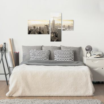 Product picture Print on Glass Collage - Manhattan Dawn...