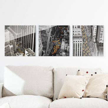 Product picture Glass Print Set - New York Taxis - 3pcs....