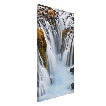 Produktfoto Magnettafel - Brúarfoss Wasserfall in...