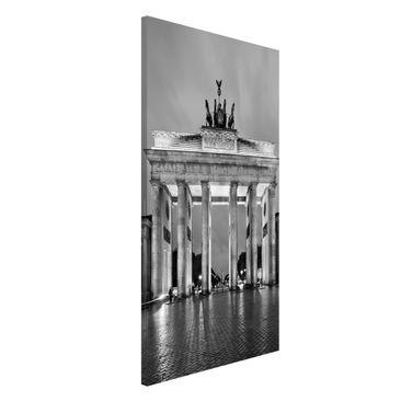 Produktfoto Magnettafel - Erleuchtetes Brandenburger Tor II - Memoboard Hoch 4:3