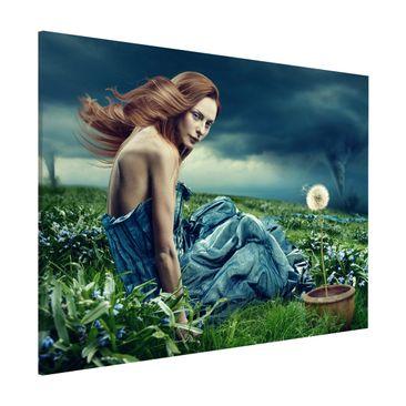 Produktfoto Magnettafel - Frau im Sturm - Memoboard Quer 3:4