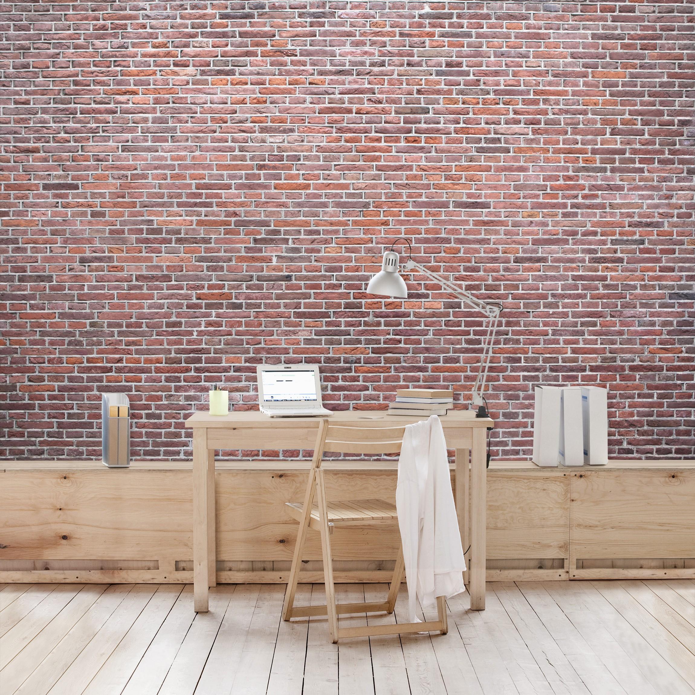 backstein tapete amsterdam rot selbstklebende vinyltapete. Black Bedroom Furniture Sets. Home Design Ideas