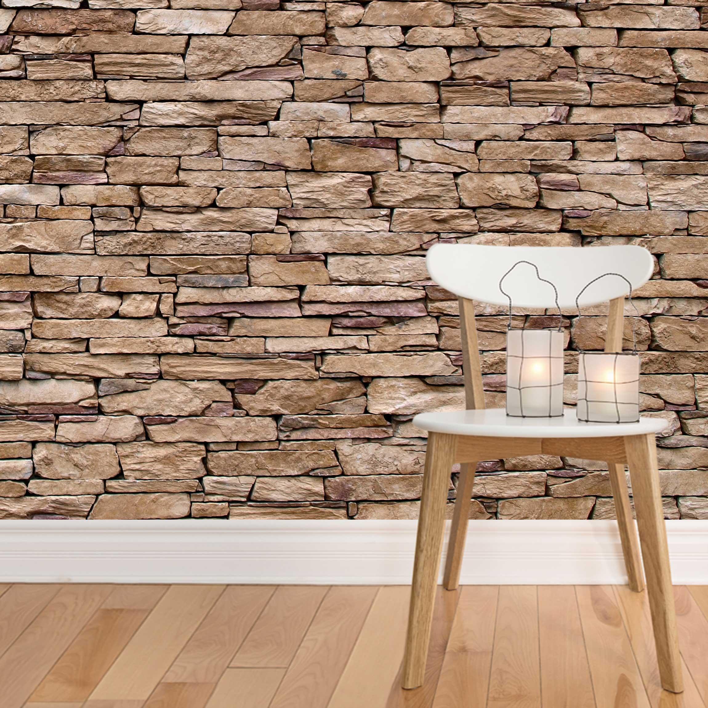 photo wall mural crete stonewall. Black Bedroom Furniture Sets. Home Design Ideas