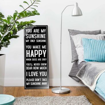 Product picture Print on Glass - No.RS182 Sunshine Black...