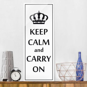 Produktfoto Glasbild - No.RS69 Keep Calm - Panorama Hoch