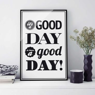 Produktfoto Glasbild - No.EV25 A Good Day II - Hoch...