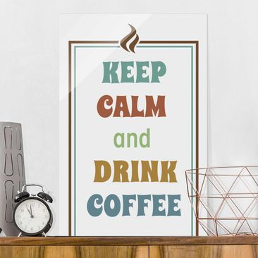 Product picture Print on Glass - No.RS185 Drink Coffee -...