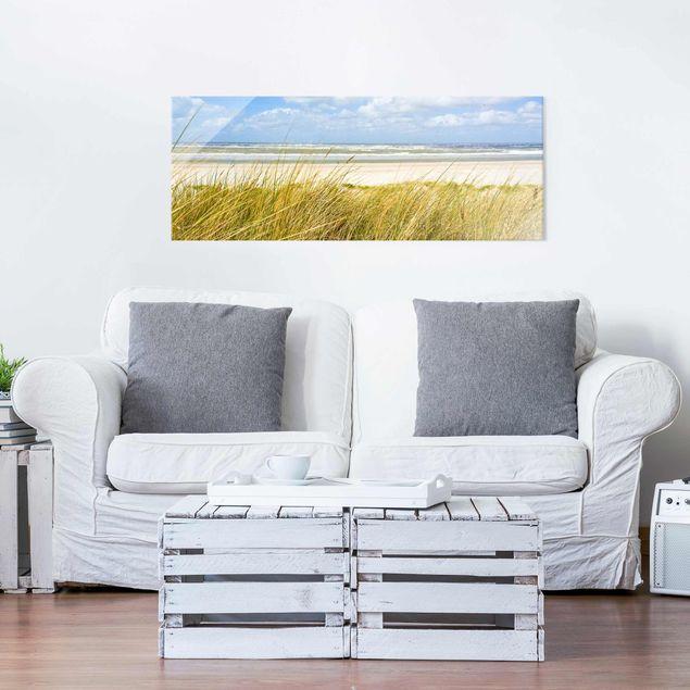 Produktfoto Glasbild - An der Nordseeküste - Panorama Quer