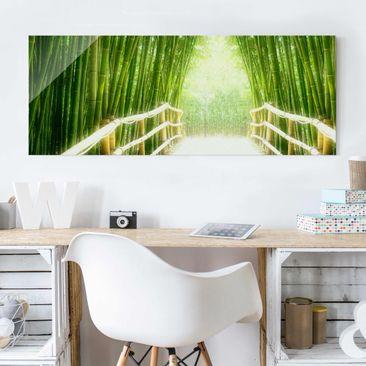Immagine del prodotto Stampa su vetro - Bamboo Way - Panoramico