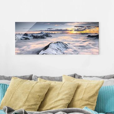 Product picture Print on Glass - View of clouds and...