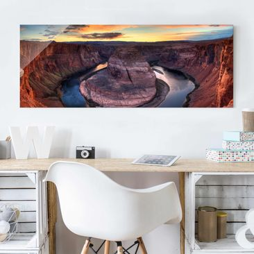 Produktfoto Glasbild - Colorado River Glen Canyon - Panorama Quer