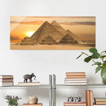 Produktfoto Glasbild - Dream of Egypt - Panorama Quer