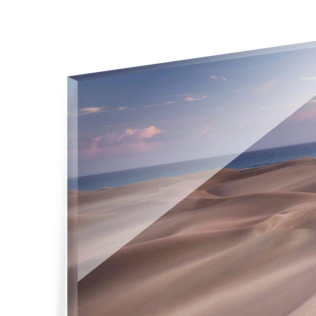 Produktfoto Glasbild - Dünenblick - Panorama Quer