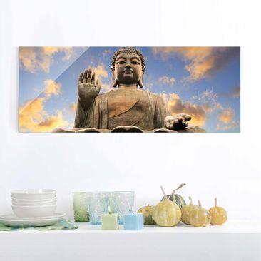 Produktfoto Glasbild - Großer Buddha - Panorama...