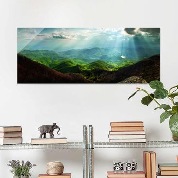 Produktfoto Glasbild - Heavenly Ground - Panorama Quer