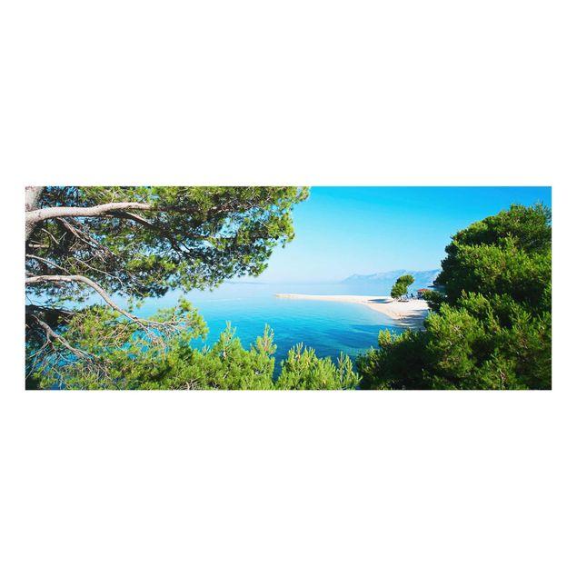 Produktfoto Glasbild - Hidden Paradise - Panorama Quer