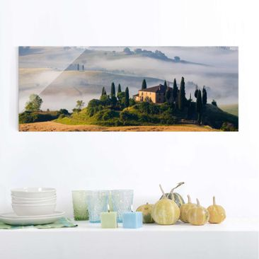 Product picture Print on Glass - estate in Tuscany -...