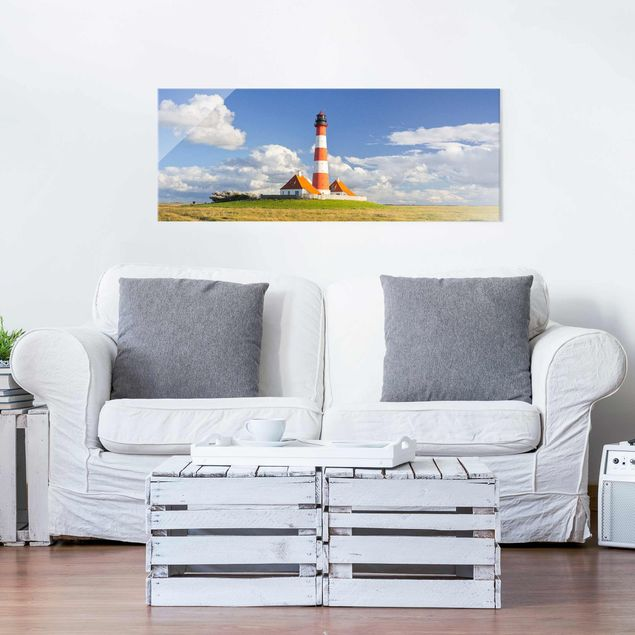 Produktfoto Glasbild - Leuchtturm in...