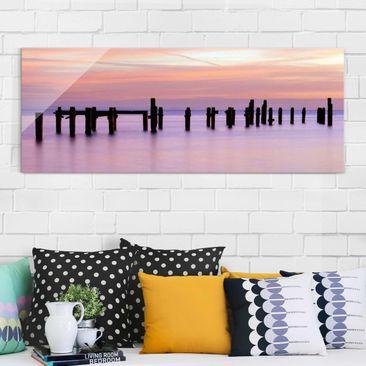 Produktfoto Glasbild - Meeresromantik - Panorama...