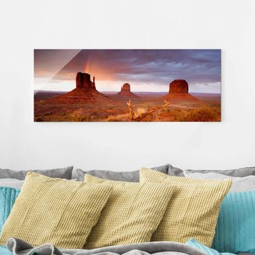 Immagine del prodotto Stampa su vetro - Monument Valley at sunset - Panoramico
