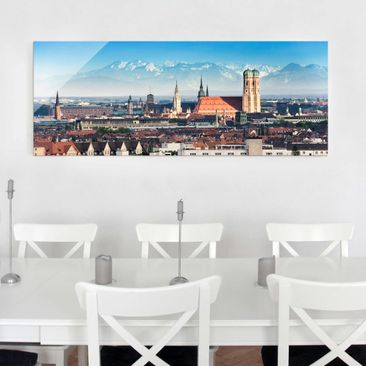 Product picture Print on Glass - Munich - Glass Wall Art...