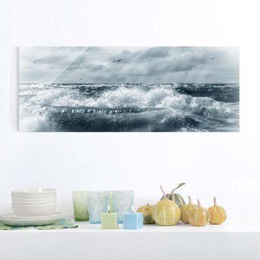 Produktfoto Glasbild - No.YK6 Lebendige Nordsee - Panorama Quer