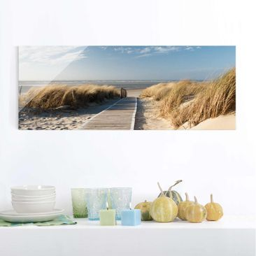 Produktfoto Print on Glass - Baltic beach - Glass...