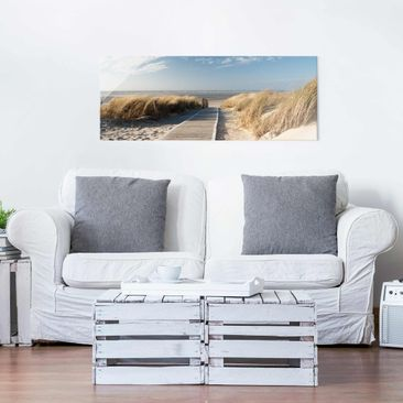 Product picture Print on Glass - Baltic beach - Glass...