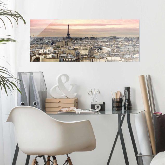 Produktfoto Glasbild - Paris hautnah - Panorama Quer