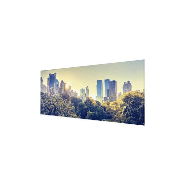 Produktfoto Glasbild - Peaceful Central Park - Panorama Quer