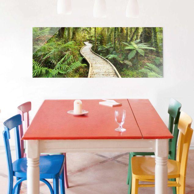 Produktfoto Glasbild - Pfad im Urwald - Panorama Quer