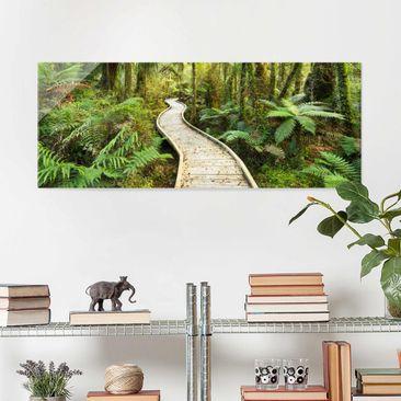 Immagine del prodotto Stampa su vetro - Path in the forest - Panoramico