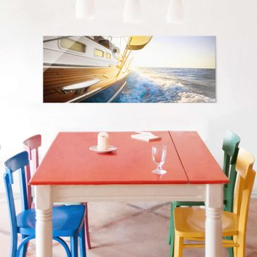 Product picture Print on Glass - Sailboat on blue sea in...