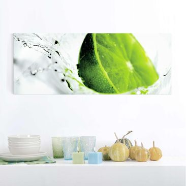 Product picture Print on Glass - Splash Lime - Glass...
