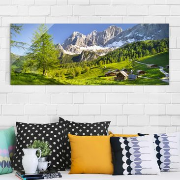 Product picture Print on Glass - Styria Alpine meadow -...