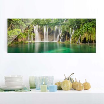 Product picture Print on Glass - Waterfall Plitvice...