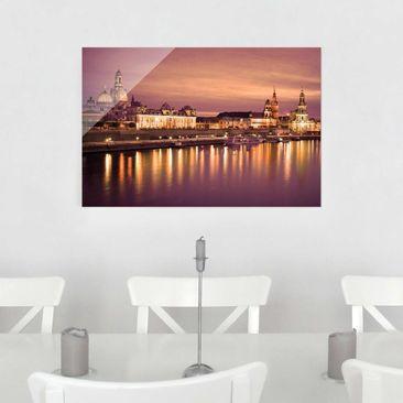 Produktfoto Glasbild - Canalettoblick Dresden - Quer 2:3
