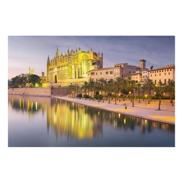 Product picture Glass Print - Catedral de Mallorca Water...