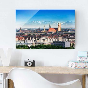 Immagine del prodotto Quadro in vetro - Munich - Orizzontale...