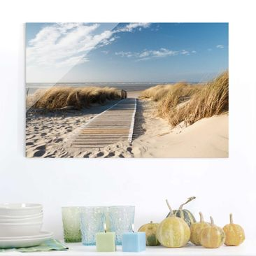 Product picture Glass Print - Baltic beach - Glass Wall...