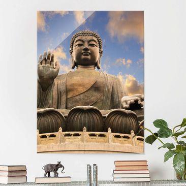 Produktfoto Glasbild - Großer Buddha - Hoch 4:3