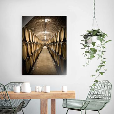 Product picture Print on Glass - Wine cellar - Glass...