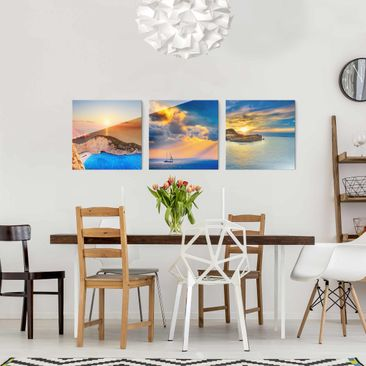 Product picture Print on Glass Set - Sunsets - 3 Glass...