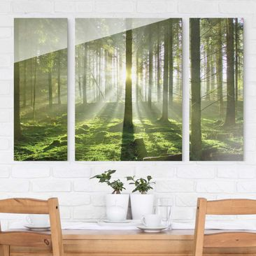 Product picture Multi-Panel Glass Wall Art - Spring...