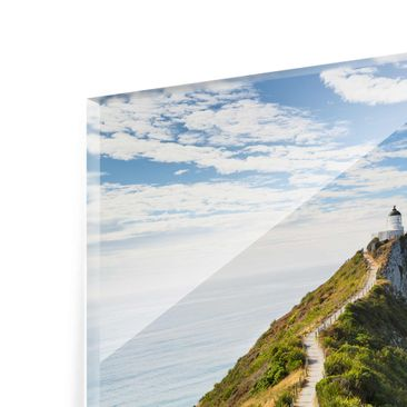 Product picture Glass Print Collage - Lighthouse Trio -...