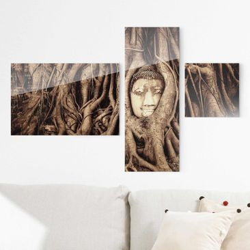 Produktfoto Print on Glass Collage - Buddha in...