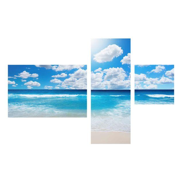 Produktfoto Glasbild mehrteilig - Touch of paradise 3-teilig